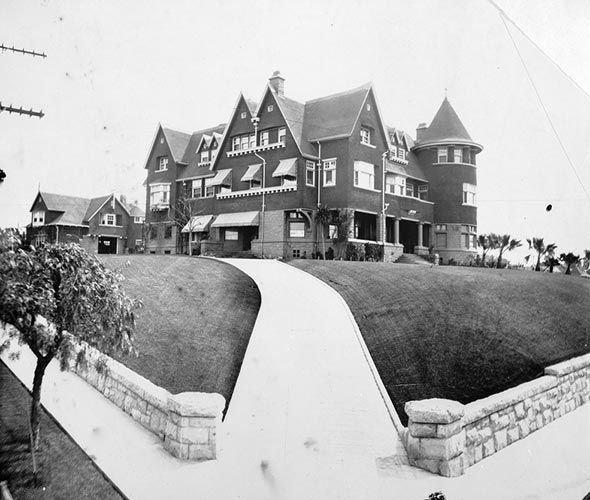 VAN NUYS MANSION AS IT LOOKED IN 1904