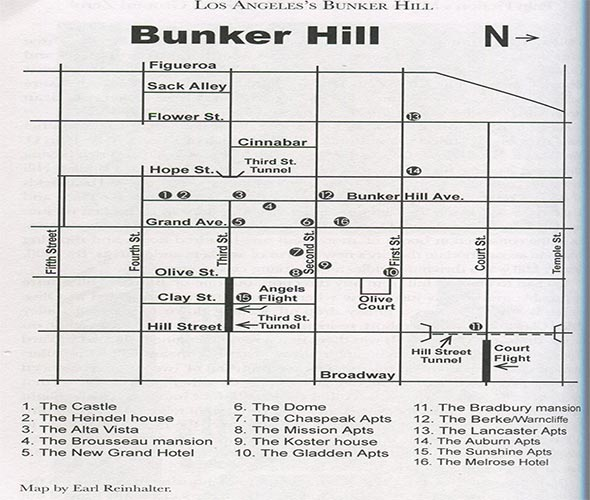 BUNKER HILL DOWNTOWN LOS ANGELES Vintage Los Angeles