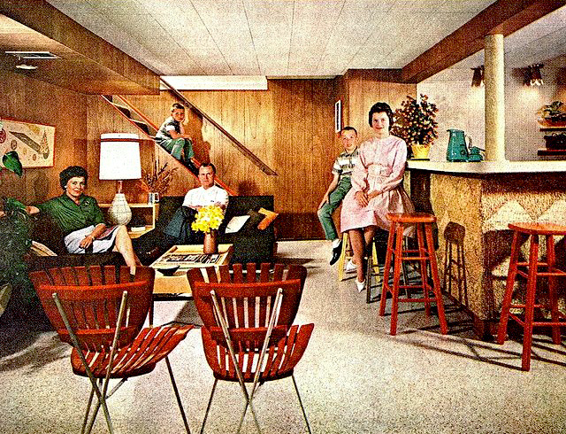 early 50's interior architecture