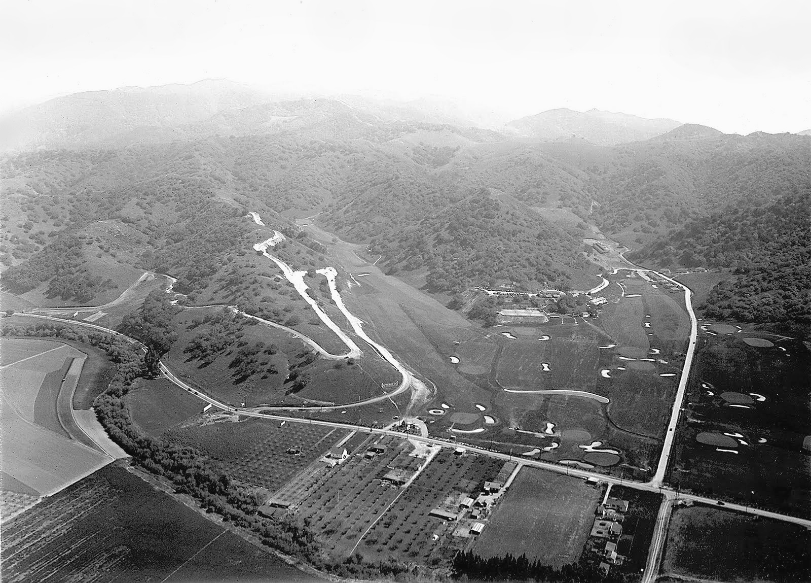 aerial hollywood country club